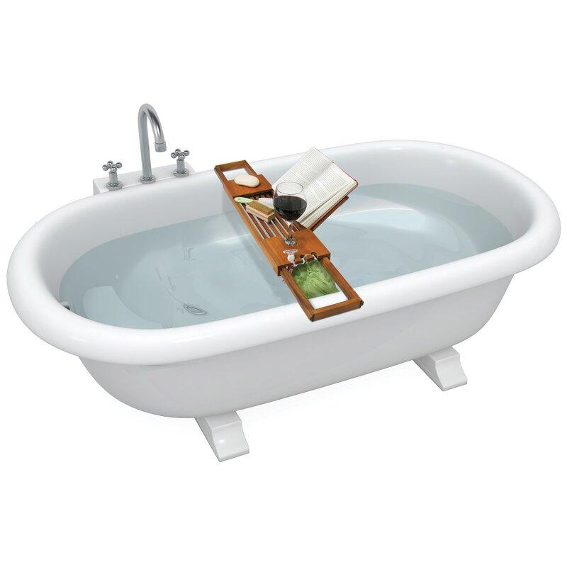 Ginsey Spa Sensation Teak Bath Caddy | Wayfair