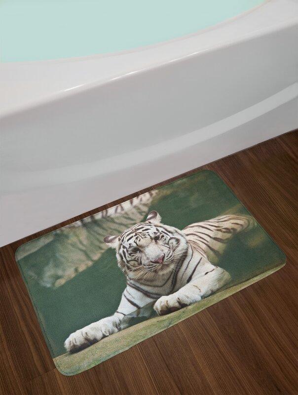 Tiger Bengal Symbol Swimming Beast With Sprites Large Cat Animals Having Fun Non Slip Plush