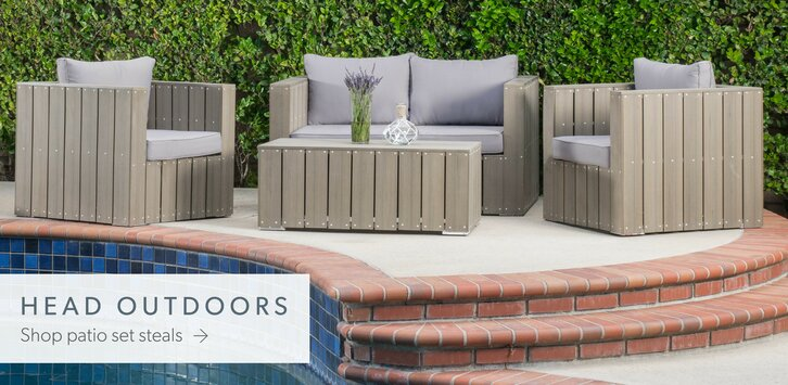 Modern Metal Outdoor Furniture modern outdoor furniture + decor | allmodern