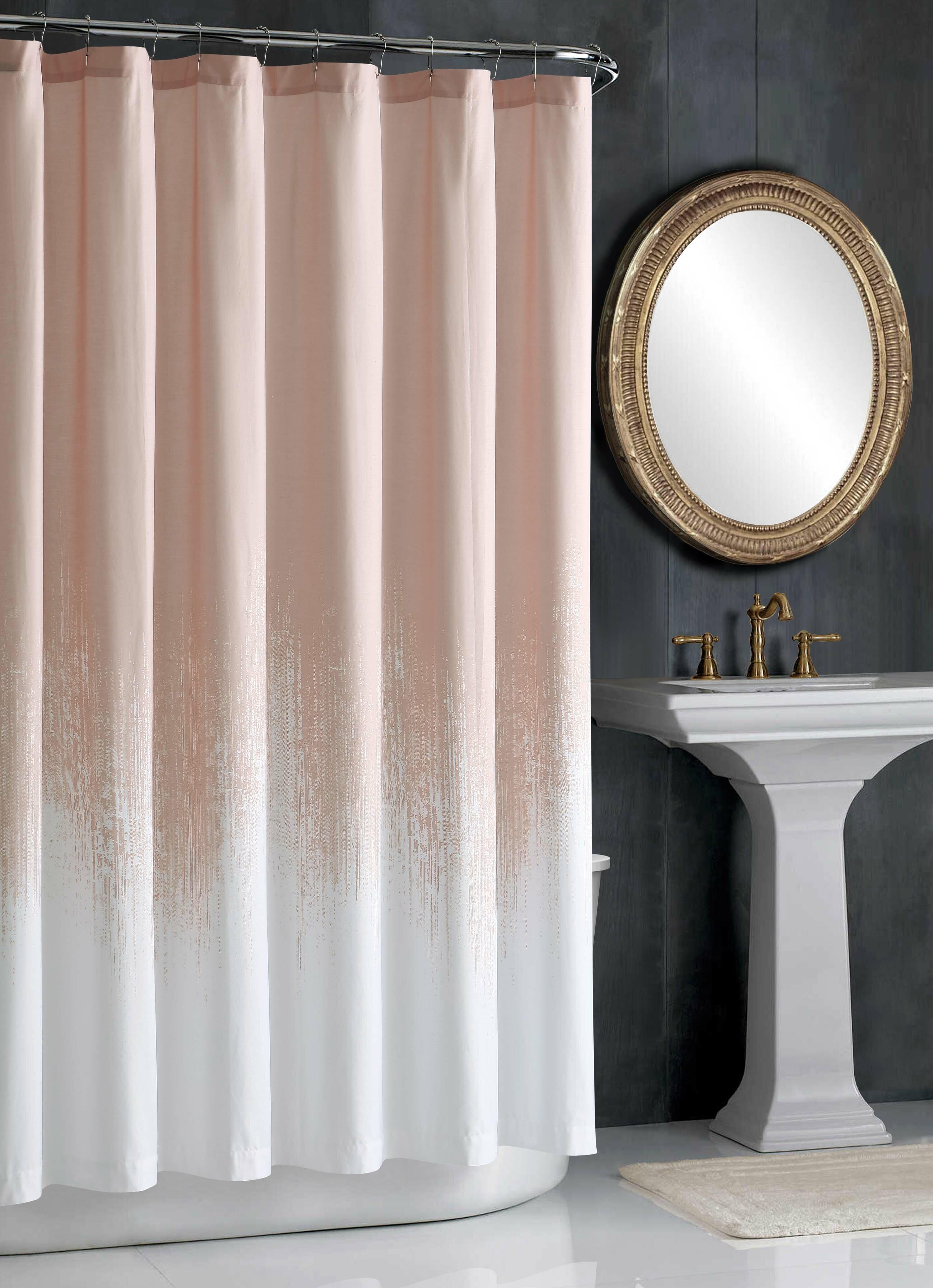 Lyon Blush Cotton Single Shower Curtain Reviews