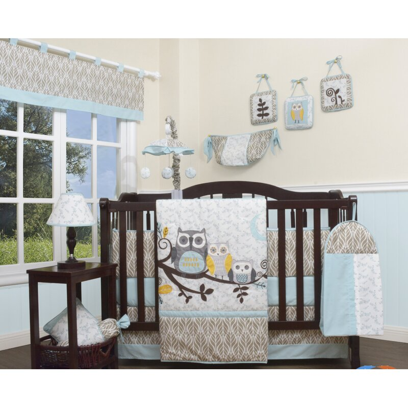 Enchanted Forest Owls Family 13 Piece Crib Bedding Set Reviews Birch Lane