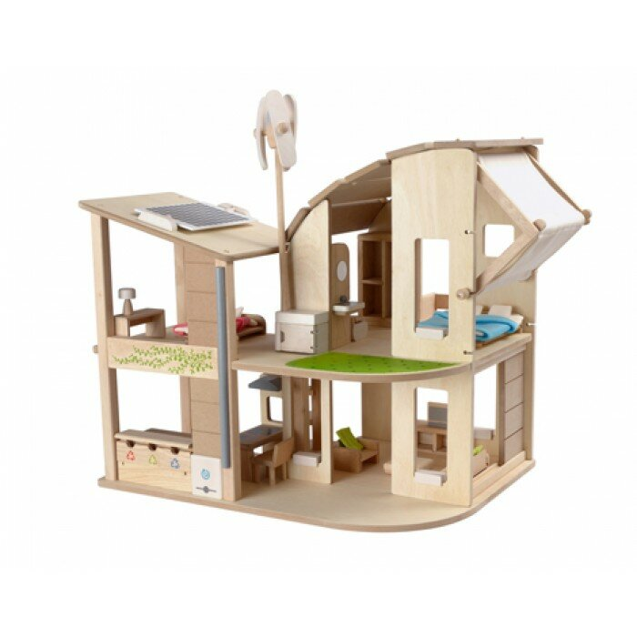 Plan Toys Green Dollhouse With Furniture Reviews Wayfair Ca
