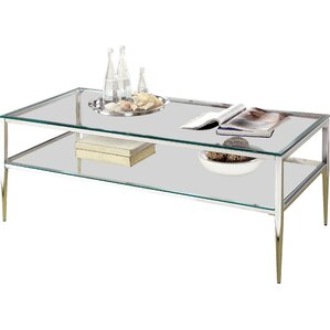 Willa Arlo Interiors Genowefa Open Shelf Coffee Table Image