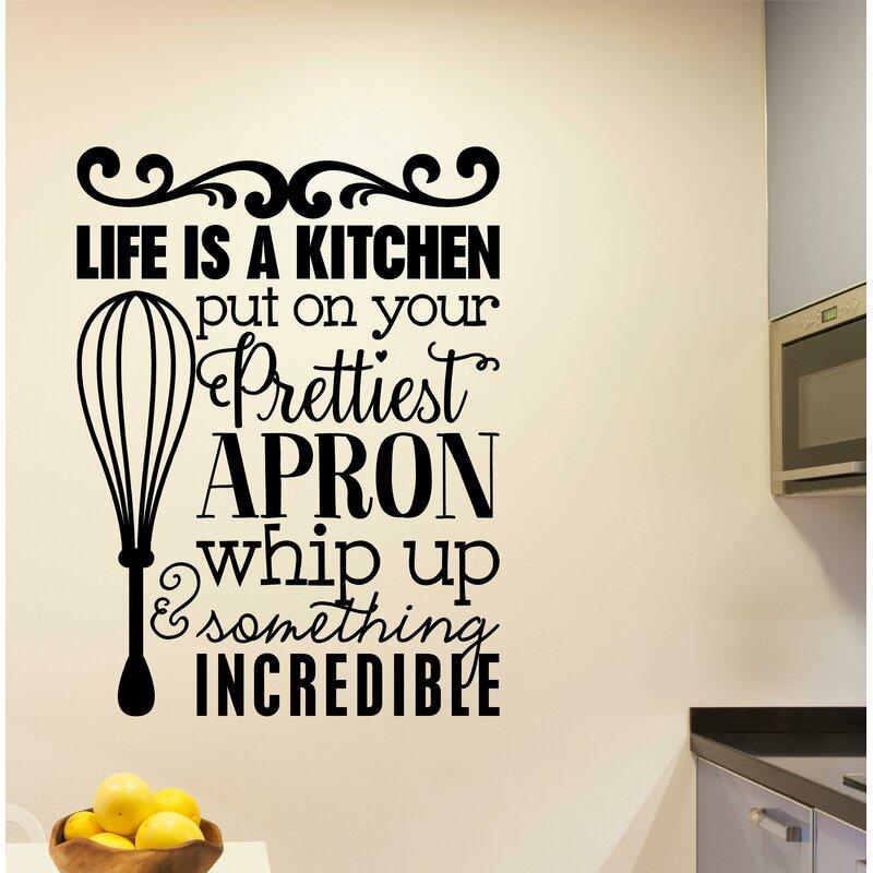 winston porter grossi life is a kitchen vinyl wall decal | wayfair.ca