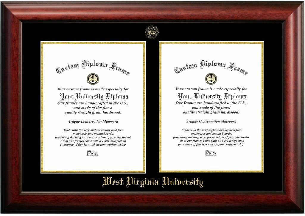 Diploma Frame Deals West Virginia University Double Degree Picture ...