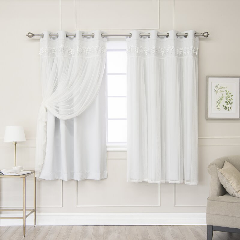 August Grove Loar Solid Blackout Thermal Grommet Curtain