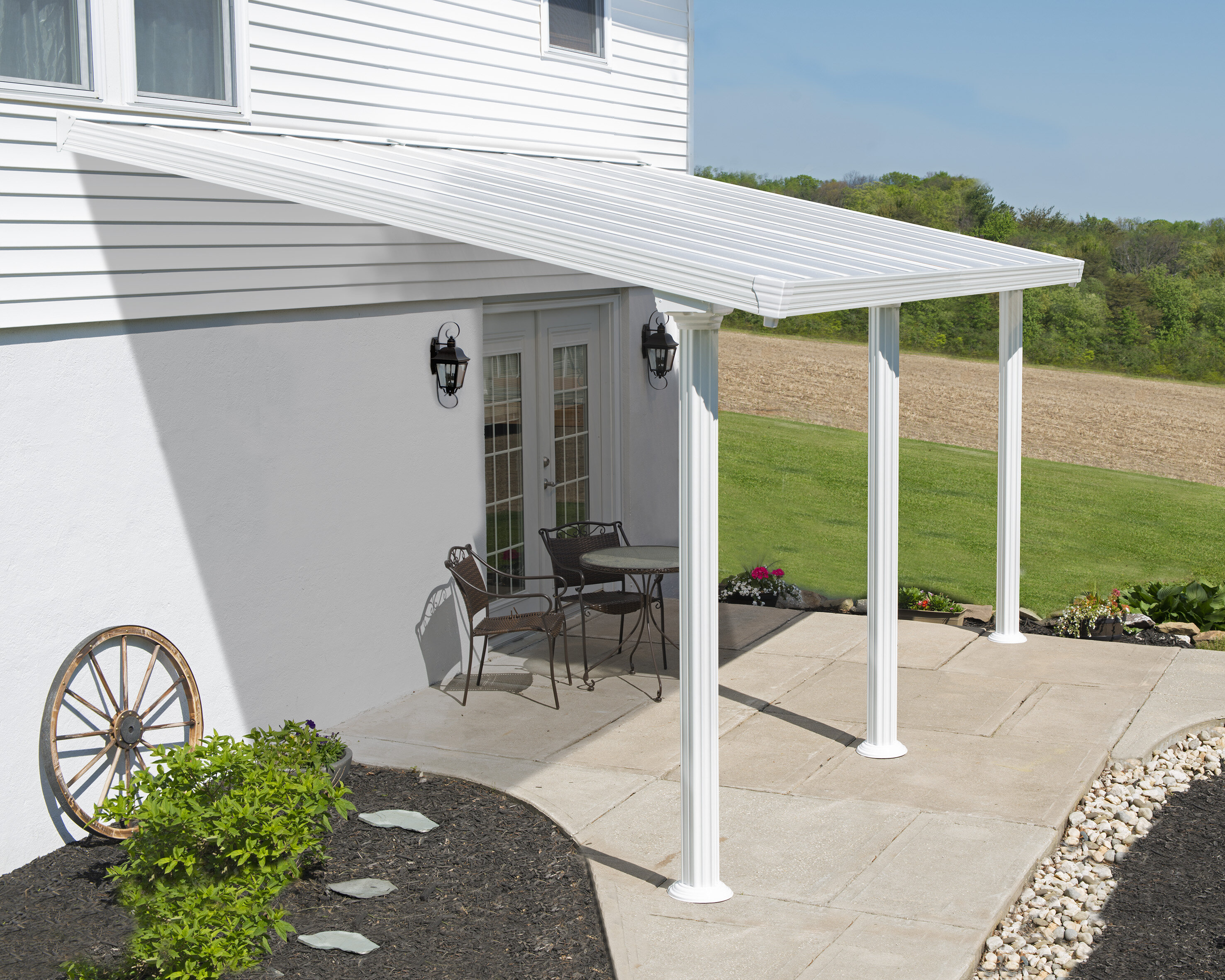 Palram Gala™ 20 ft W x 9 5 ft D Patio Awning & Reviews