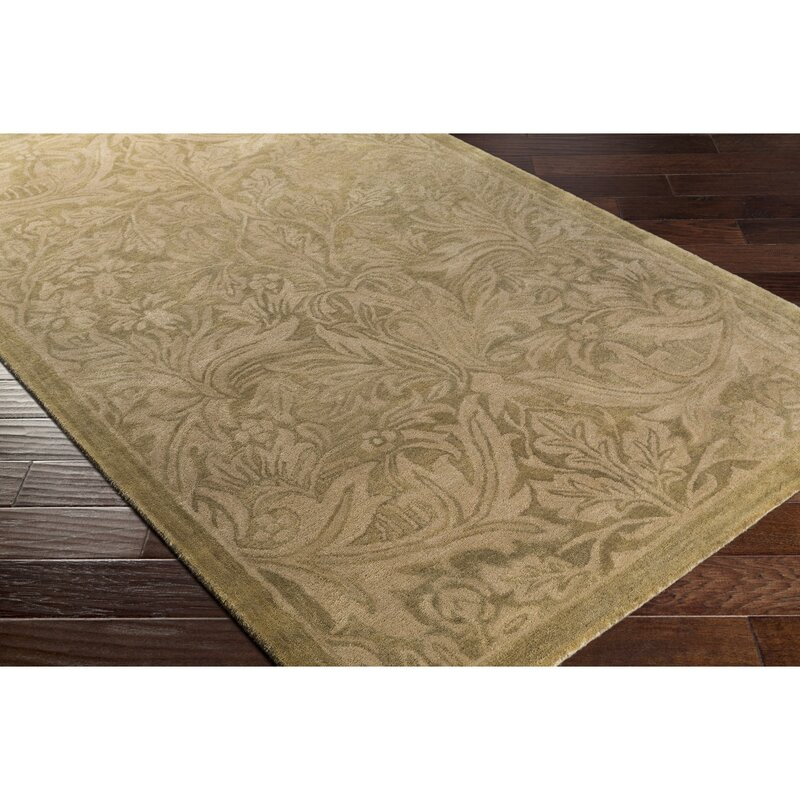 Alcott Hill Acton Hand-Knotted Beige Area Rug, Size: Rectangle 8 x 10