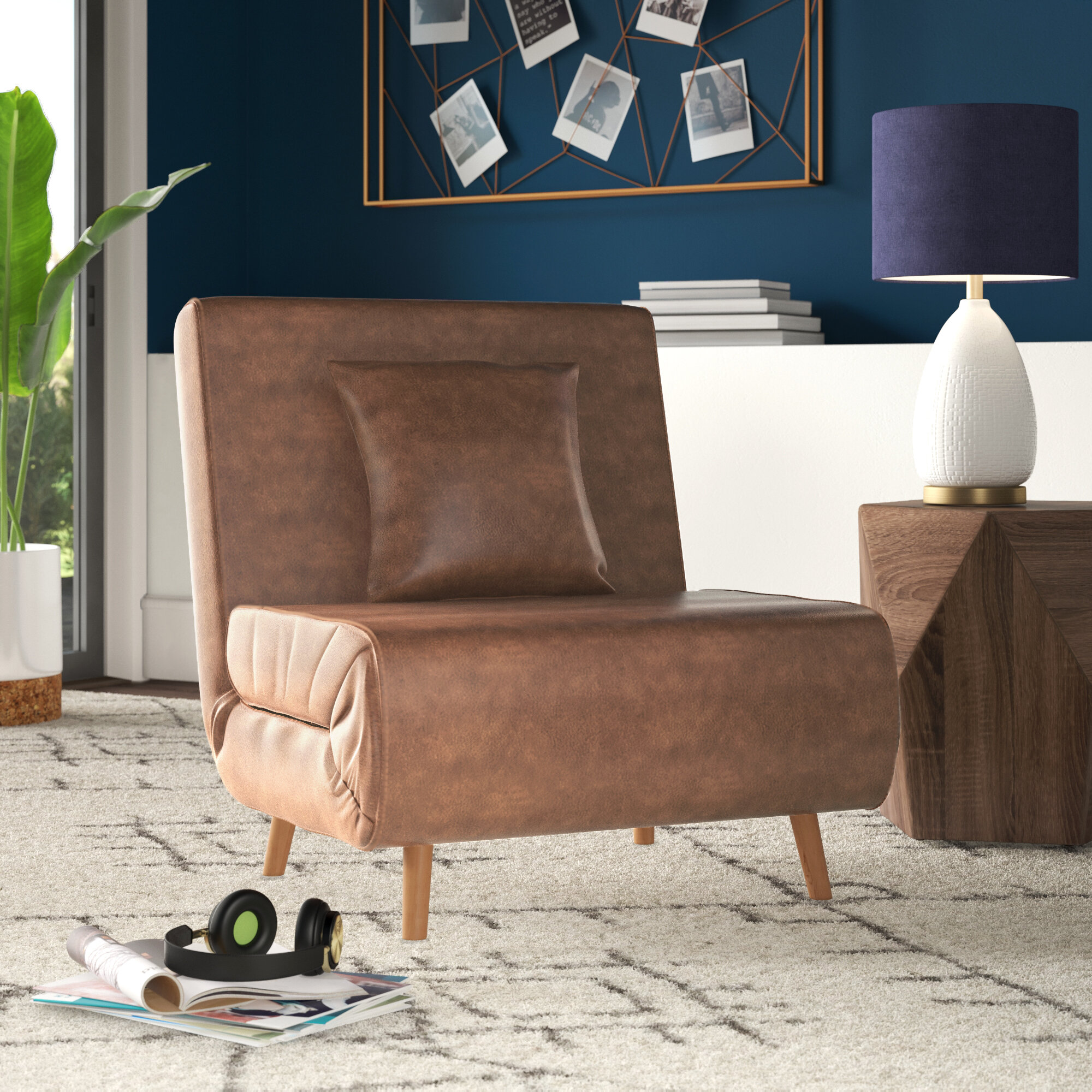 Charmant Wolfe Convertible Chair