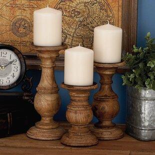 Antiques Candlesticks Dynamic Vintage Large Wooden Candle Stick Holders