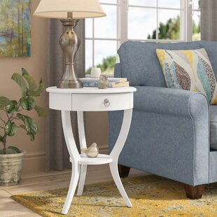 Ordinaire Antique White Round End Table | Wayfair