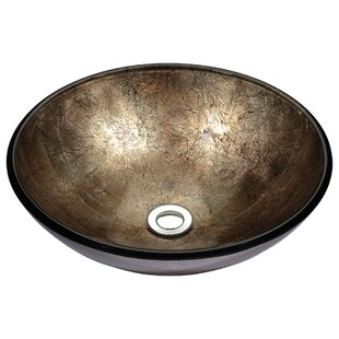 save anzzi stellar series glass circular vessel bathroom sink - Bathroom Sink Bowls