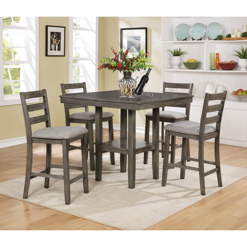 Tahoe 5 Piece Counter Height Dining Set & Crown Mark Tahoe 5 Piece Counter Height Dining Set u0026 Reviews | Wayfair