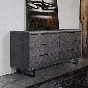 Amsterdam 6 Drawer Double Dresser by Modloft
