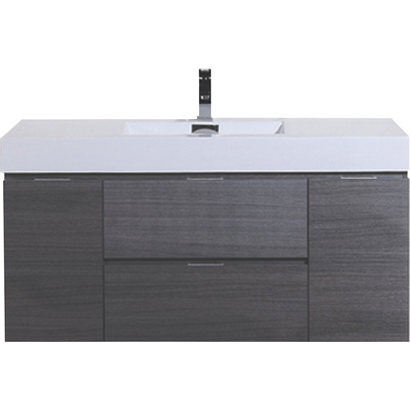 Wade logan tenafly 48 single wall mount modern bathroom vanity set reviews - Kona modern bathroom vanity set ...