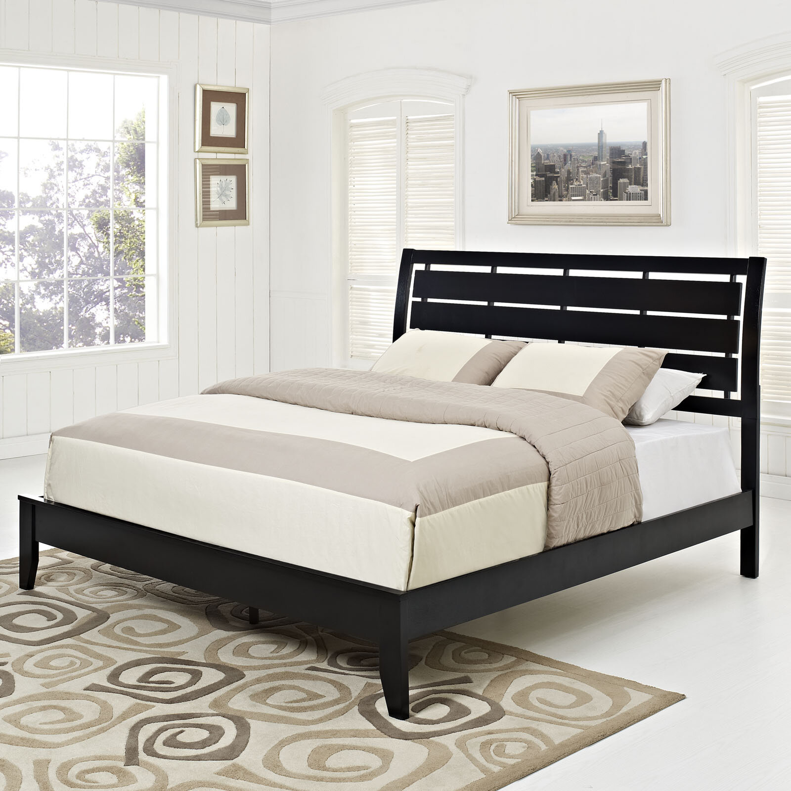 modway olivia upholstered platform bed reviews wayfair