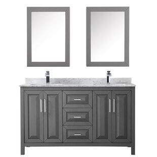 Daria 60 Double Bathroom Vanity Set With Medicine Cabinet