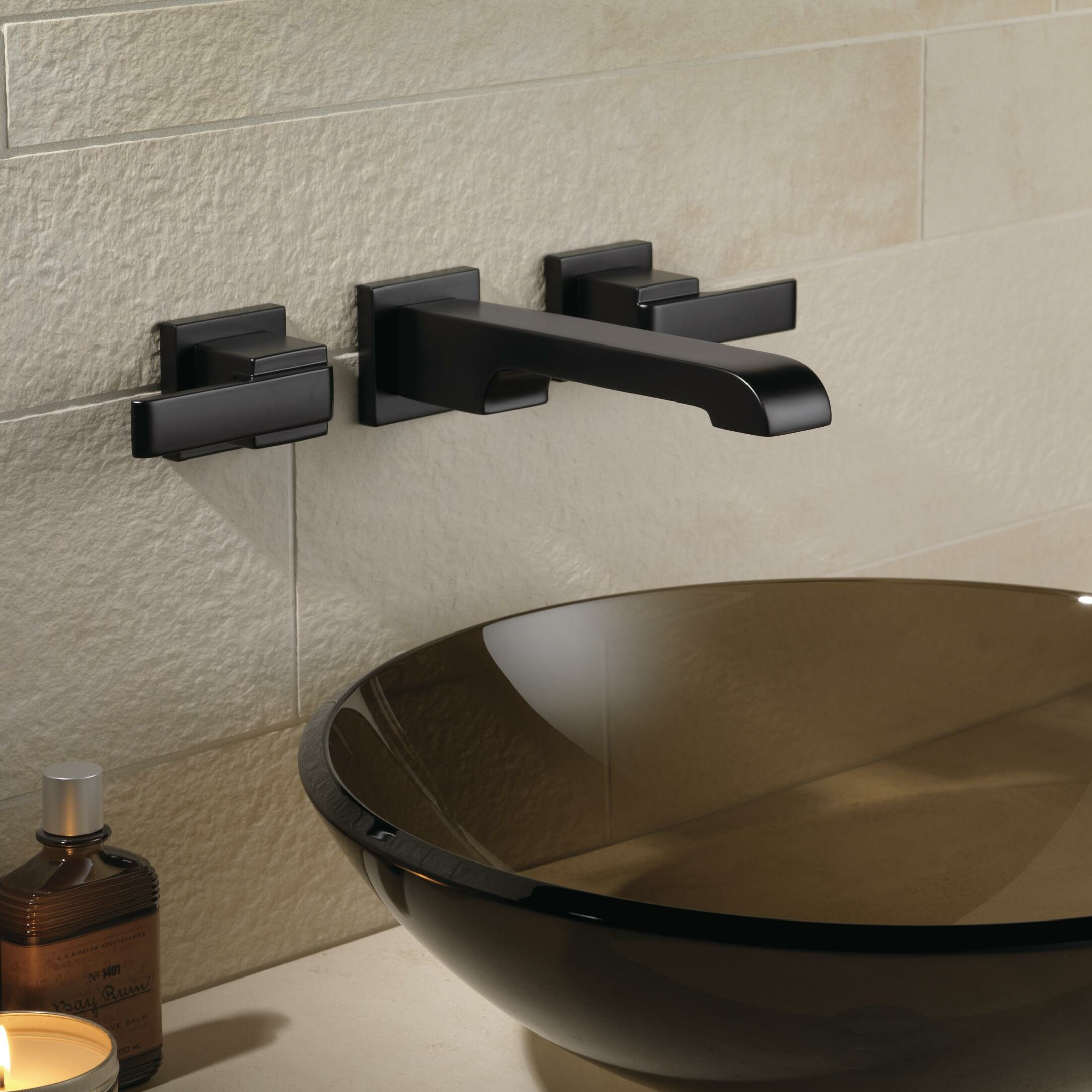 faucets with oil lever bathroom mount handles triton l rubbed bronze tipton wall faucet
