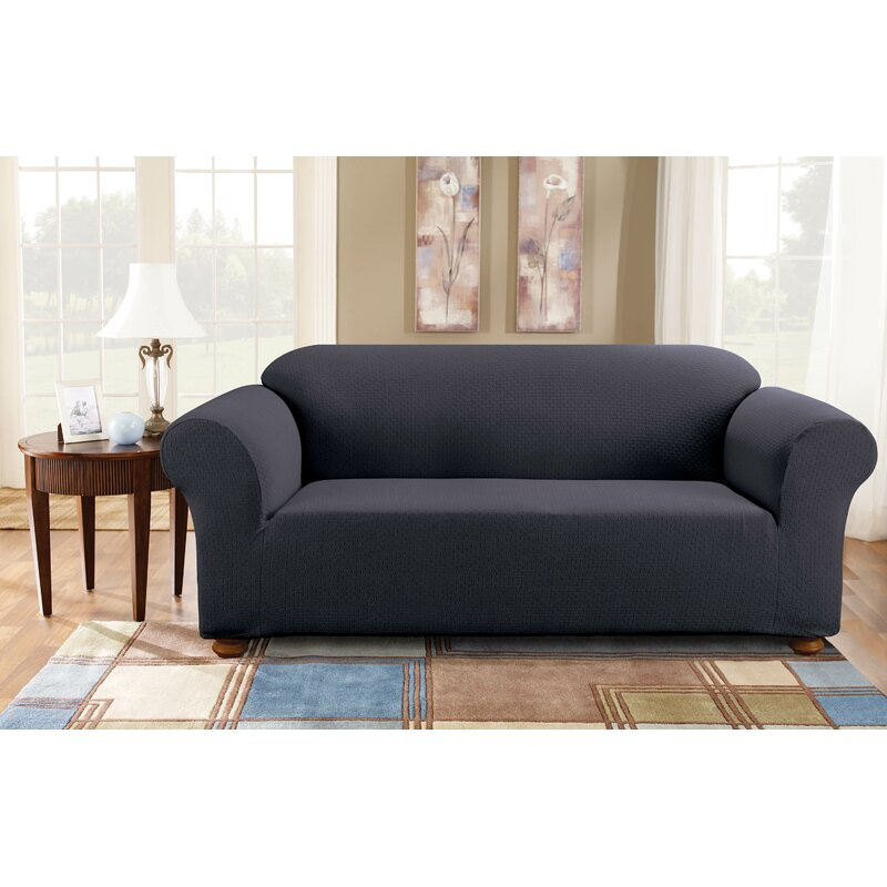 Sure Fit Simple Stretch Subway Box Cushion Sofa Slipcover Reviews Wayfair Ca