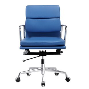 Blue Leather Office Chairs Youu0027ll Love In 2019 | Wayfair