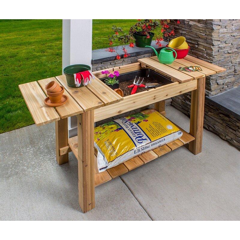 Fine Phat Tommy Patio And Garden Cedar Potting Bench Interior Design Ideas Grebswwsoteloinfo