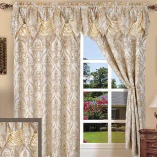 Heideman Damask Room Darkening Rod Pocket Curtain Panel (Set Of 2)