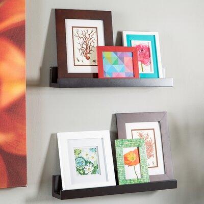 Ebern Designs Farallones Picture Frame Floating Shelf Size: 3 1/2 D x 36 L x 3 1/2, Finish: Espresso