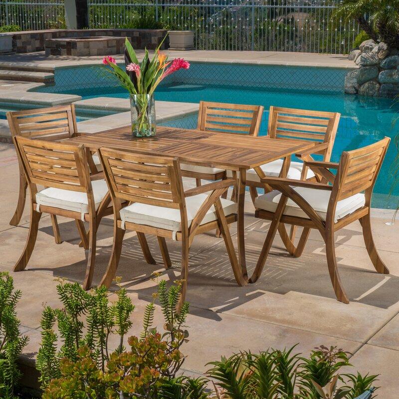 172c30406b Coyne 7 Piece Dining Set with Cushions & Reviews | Joss & Main