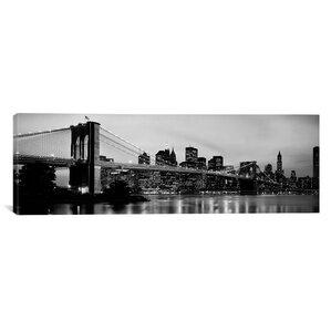 huenna brooklyn bridge across the east river at dusk manhattan new york canvas wall