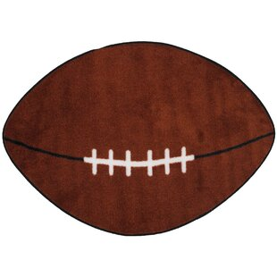 Fun Shape Football Sports Area Rug