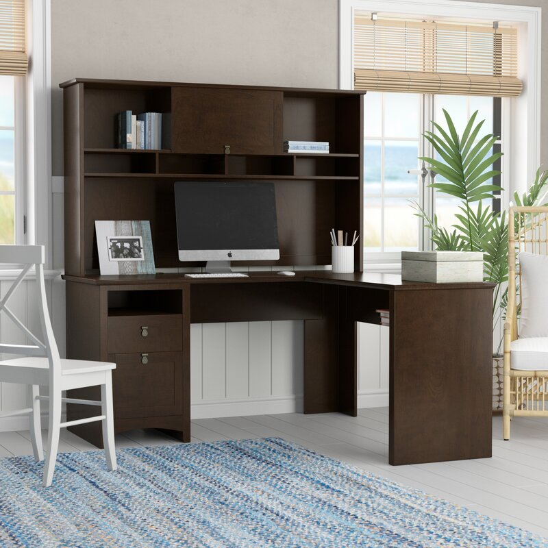 Bon Darby Home Co Fralick L Shape Executive Desk With Hutch U0026 Reviews | Wayfair