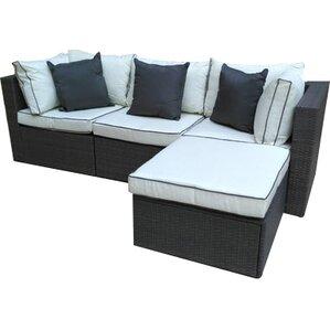 4piece hannah wicker patio seating group