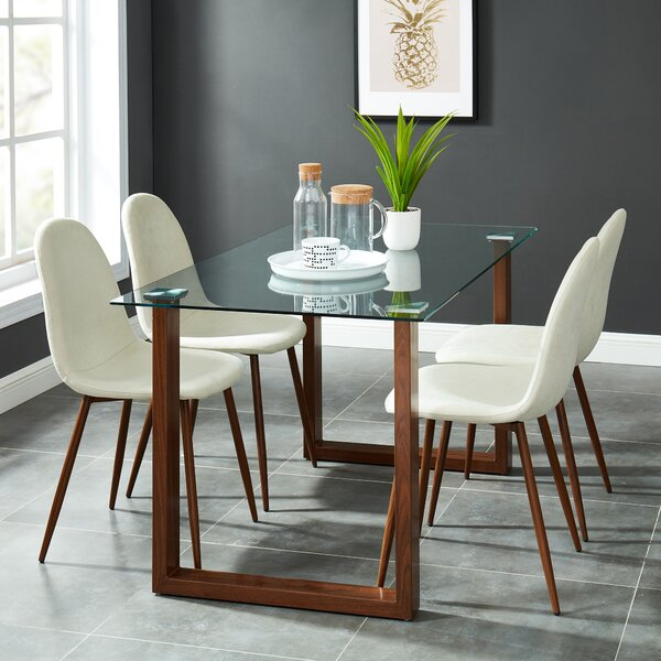 Wrought Studio Peggie Contemporary 5 Piece Dining Set Wayfair