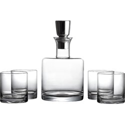 giselle 5 piece linus whiskey glass and decanter set - Whiskey Glass Set