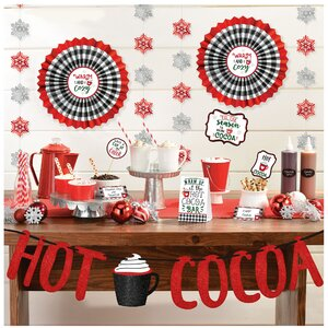 Christmas Cocoa Deluxe Buffet Decorating Kit