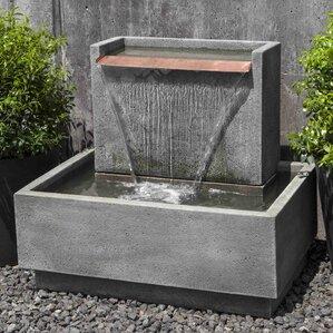 Concrete Falling Water Fountain