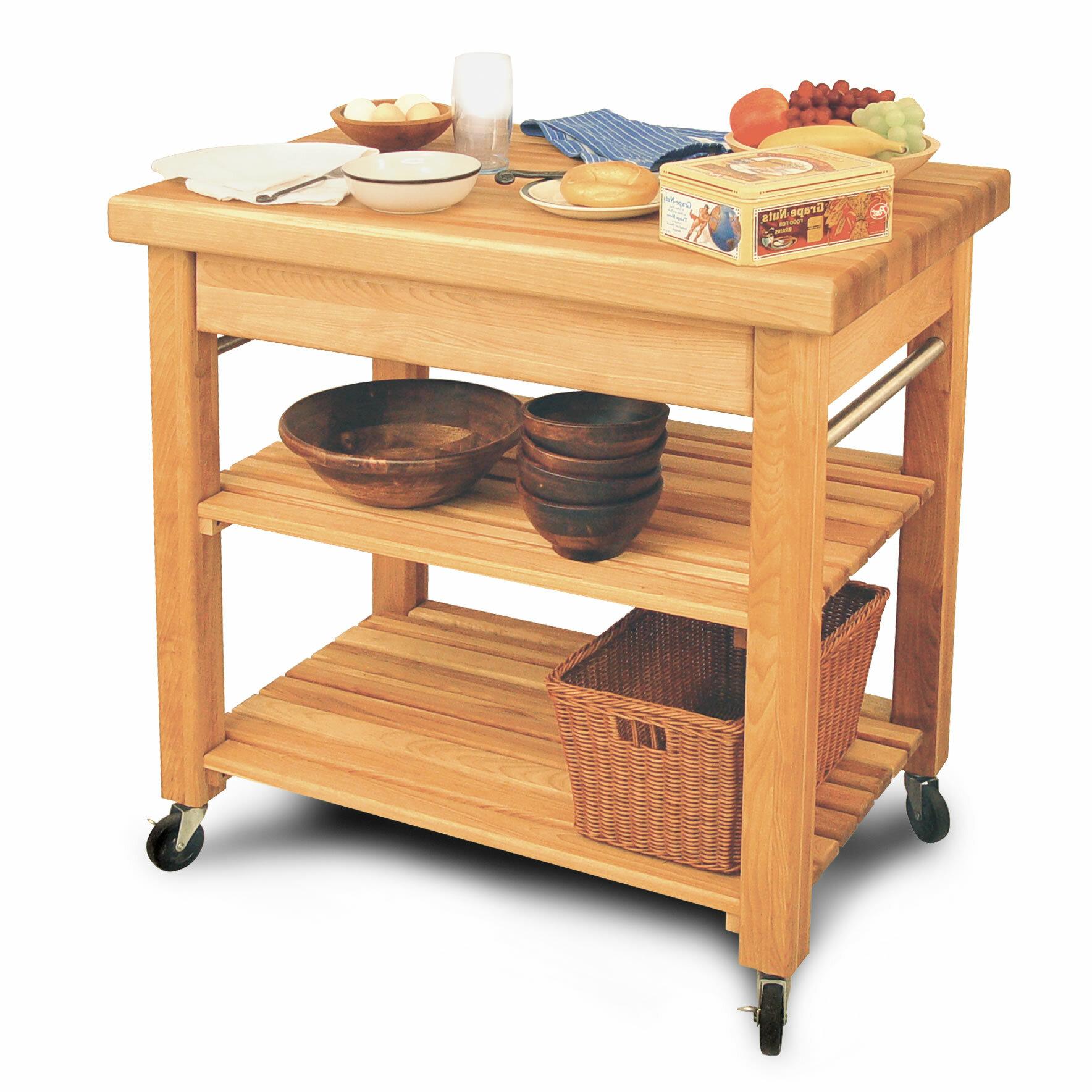 Wulfram Solid Wood Kitchen Cart