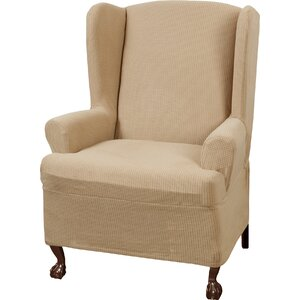 T-Cushion Wingback Slipcover Set