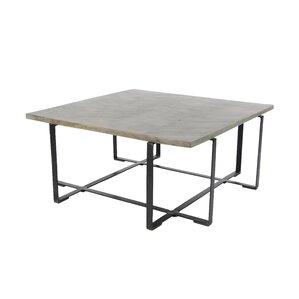 Naihui Modern Mango Wood And Iron Chevron Patterned Coffee Table