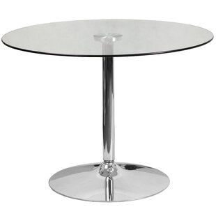 Cavell Round Glass Dining Table
