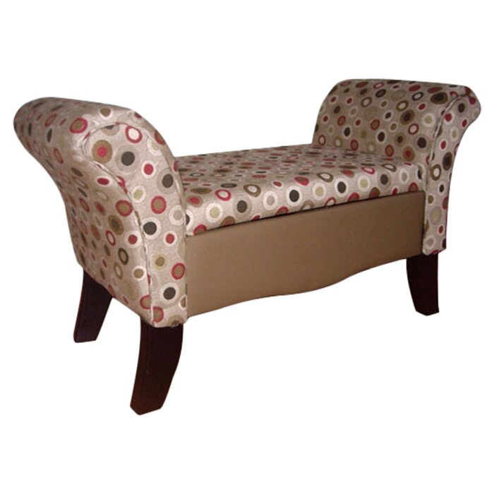 Charming Upholstered Storage Settee Bench