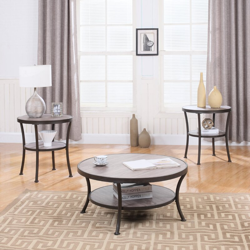 Madison Home USA 3 Piece Coffee Table and End Table Set Reviews