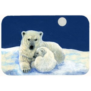 Polar Bears Moonlight Snuggle Kitchen/Bath Mat
