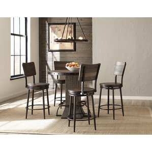 Edward 5 Piece Round Counter Height Dining Set