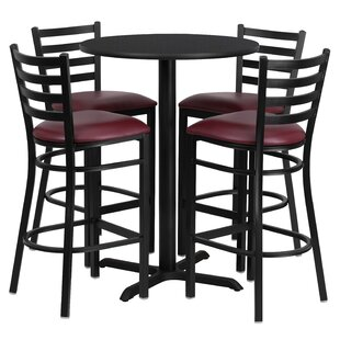 Batres 5 Piece Pub Table Set