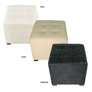 Merton Belfast Upholstered Cube Ottoman by MJL Furniture