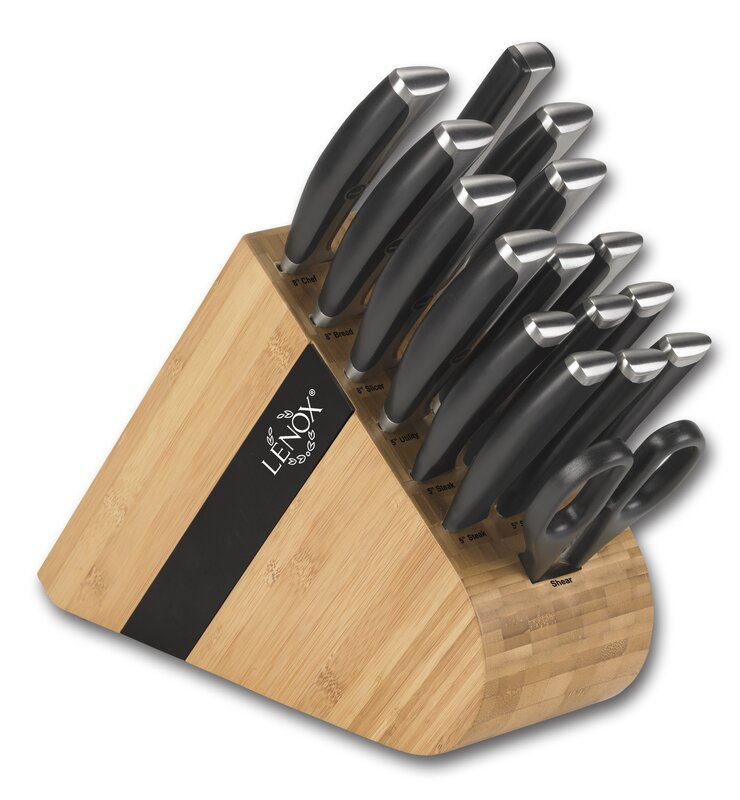 Lenox Forged Series 17 Piece German Steel Knife Set & Reviews