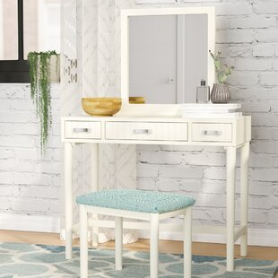 vanity with mirror and chair. Worley Vanity Set with Mirror Makeup Tables and Vanities You ll Love  Wayfair