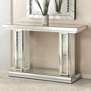 Longo Rectangle Mirrored Console Table