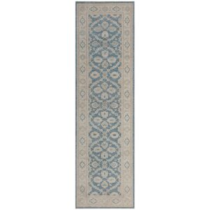 Ferehan Hand-Knotted Gray/Blue Area Rug